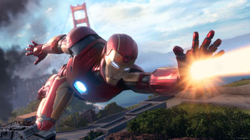 marvel's avengers, iron man, fliegen