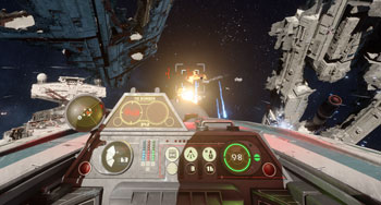 star wars, game, action, a-wing, tie-fighter