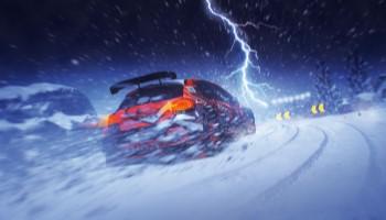 Dirt 5, Blitz, Schnee, Auto, Review, Test