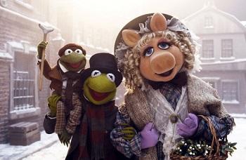 weihnachtsfilme, kermit, mrs. piggy, muppets, eine weihnachtsgeschichte