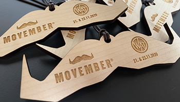 Movemberlauf, Medaillen