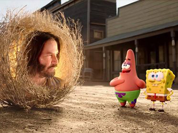 keanu reeves, spongebob, patrick, kinderfilm