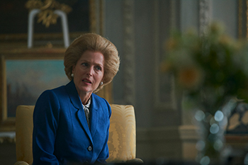 gillian anderson, margaret thatcher, the crown, peter morgan, netflix
