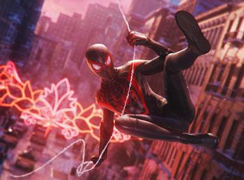 spider-man, miles morales, schwingen, swing
