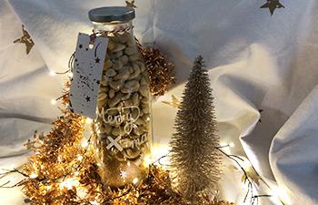 gebrannte nuesse, homemade, weihnachtsgeschenk