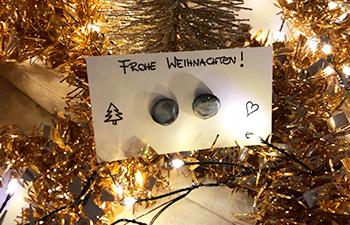 ohrstecker, fimo, modelliermasse, diy weihnachtsgeschenke
