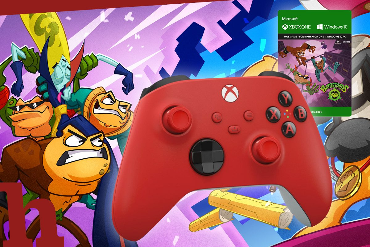 Gewinn knallbuntes Xbox-Paket! Pulse Red Controller plus Battletoads