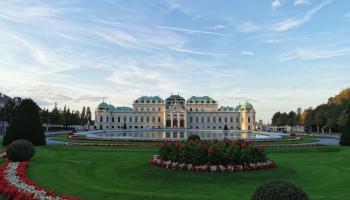 schloss, belvedere, palais, kunst, museum, park, barock, anlage, sightseeing in wien, touristenattraktion,