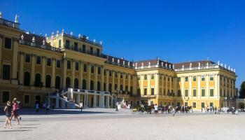 schloss, schönbrunn, palast, sommerresidenz, habsburger, sightseeing, touristen, attraktion, sehenswürdigkeit, wien,