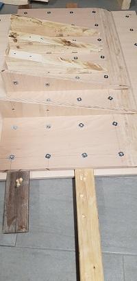 Überhang für eine Kletterwand basteln, Holzkonstruktion