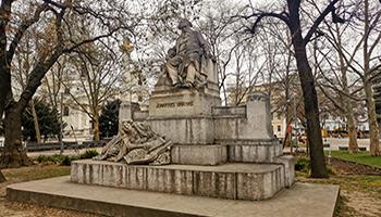 brahms, karlsplatz, resselpark, statue,