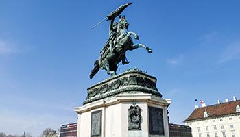 heldenplatz, erzherzog karl, schönsten denkmäler in wien, statue, pferd, reiter,