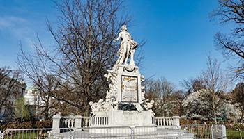 mozart, denkmal, statue, bildnis, wien, burggarten,