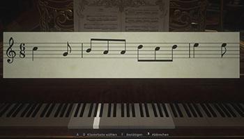 lady, dimitrescu, schloss, piano,noten, festung, rätsel,