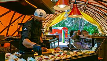 feuerdorf, outdoor, kitchen, offenes feuer, grill, bbq, grillhütten, fleisch,