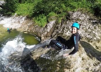 Canyoning Jack, Tour, Niederösterreich, nahe Lunz am See, Schlucht, Wasserfall