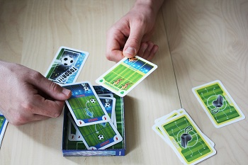 Elfmeter, Fußball-Kartenspiel