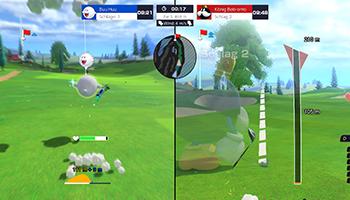 mario golf: super rush, speed-golf, nintendo, switch, camelot, 2021, multiplayer, familie, review, test, spiel,