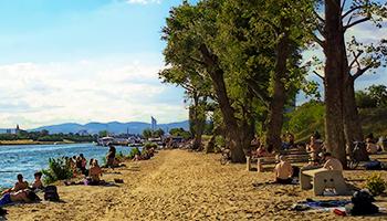 donauinsel, strand, grillplatz 8, neu, sand, 2021, baden, schwimmen,