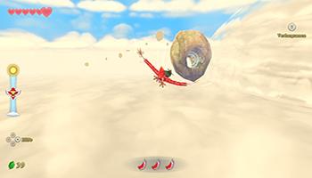 skyward sword hd, link, wolkenhort, wolkenmeer, wolkenvogel, fliegen, steuerung, gyrosensor,