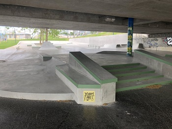 Copa Beach Plaza, Skatepark in Wien, Donauinsel, Street Skateboarden