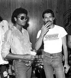 Michael Jackson und Freddie Mercury