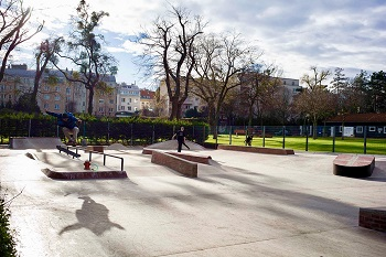 Währinger Skatepark, Rails, Street Skaten, Wien