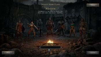Diablo 2: Resurrected, Remake, Blizzard, Diablo 2, ARPG, Charakterscreen