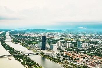 Donauinsel von oben, Wien