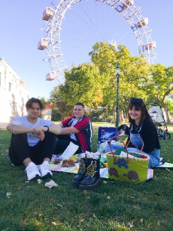 Freunde, Picknick, Wien, Prater
