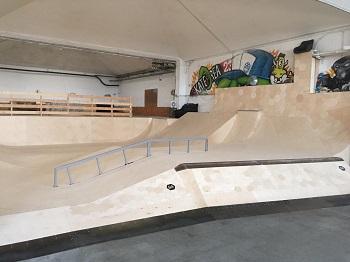 Die neue renovierte Skatearea23, Skatehalle in Wien