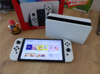 switch oled, unboxed